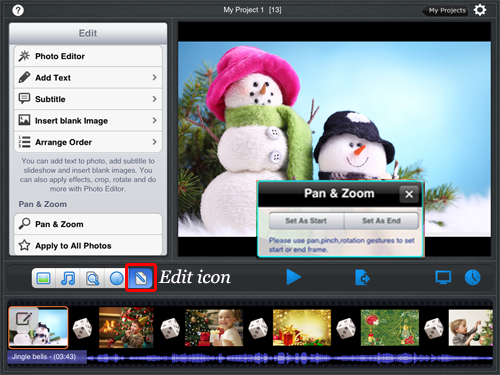 ipad slideshow photo editor