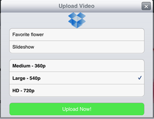 post slideshow to dropbox from ipad