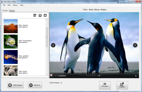 Web Picture Creator-free web photo album.
