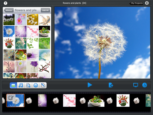 import ipad photos to slideshow app