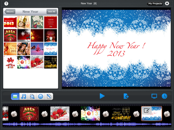 ipad slideshow app for new year slideshow