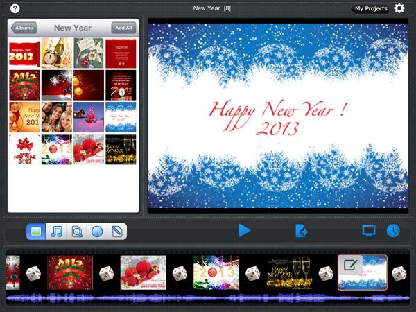 ipad slideshow app for new year slideshow