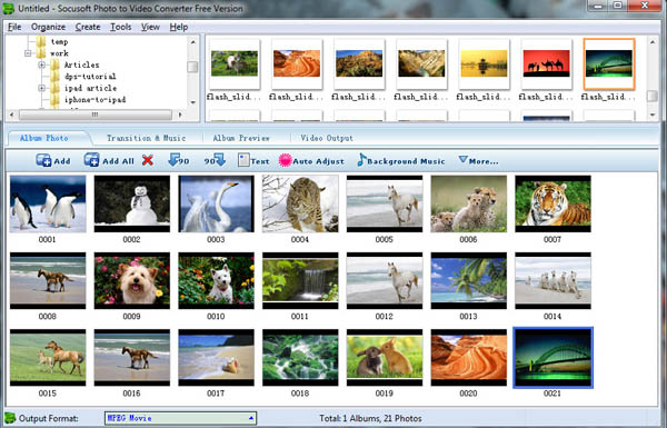 photo to slideshow video free software