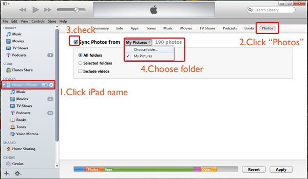 how to transfer photos to ipad from pc and create a slideshow