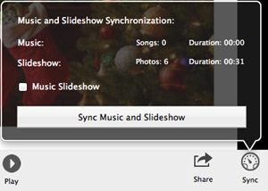sync slideshow to music