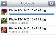 uploading process