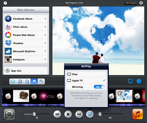 turn on ipad airplay feature