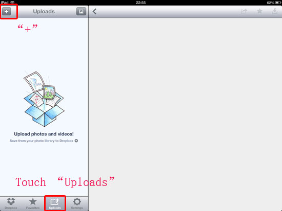 transfer ipad photos and videos to dropbox