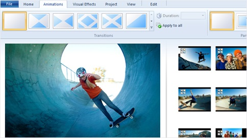 create slideshow with free windows movie maker