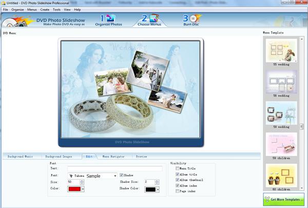 showcase photos in slideshow