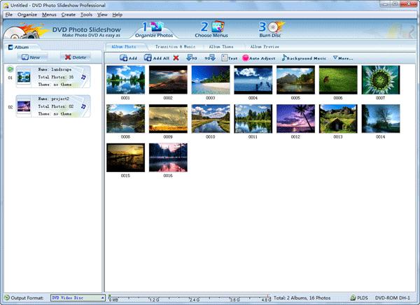 organize photos in slideshow software