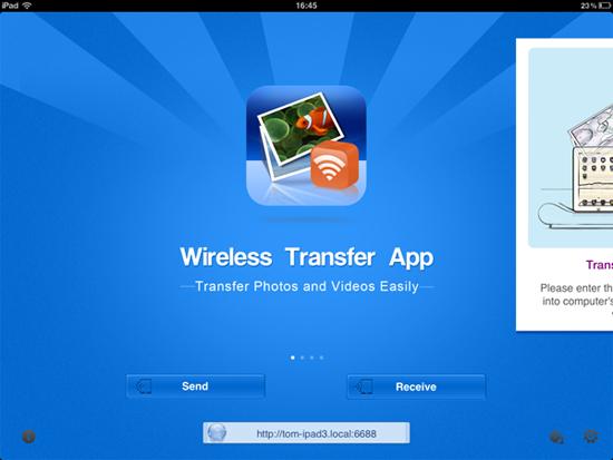 wifi transfer slideshow video to ipad iphone