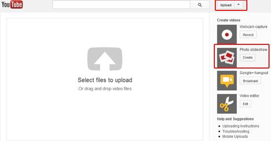 create slideshow on youtube