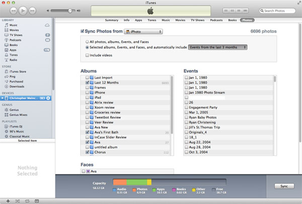 delete ipad album from itunes