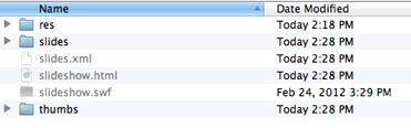 mac flash output folder