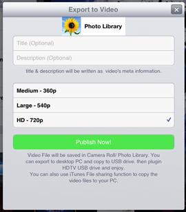 save slideshow to camera roll