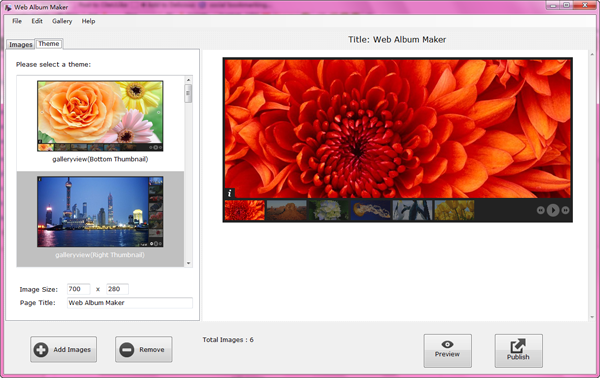 select theme for jquery slideshow