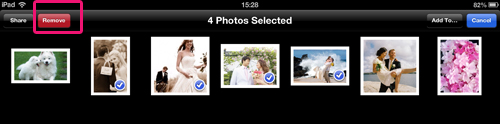 delete multiple photos from ipad