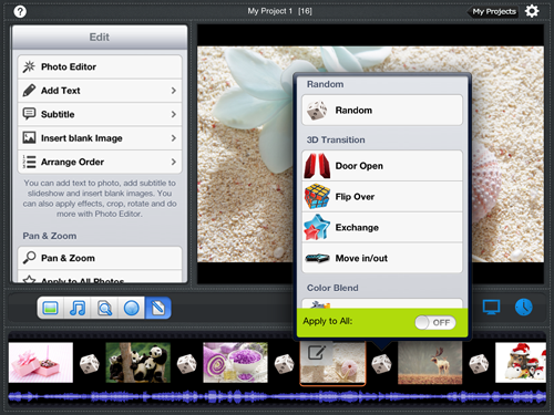slideshow transitions for ipad2